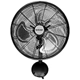 Hurricane 736484 Wall Mount Fan - 16 Inch | Pro Series | High Velocity | Heavy Duty Metal Wall Mount Fan for Industrial, Commercial, Residential, and Greenhouse Use - ETL Listed, Black