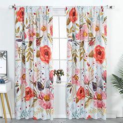 Boho Floral Shabby Chic Curtains