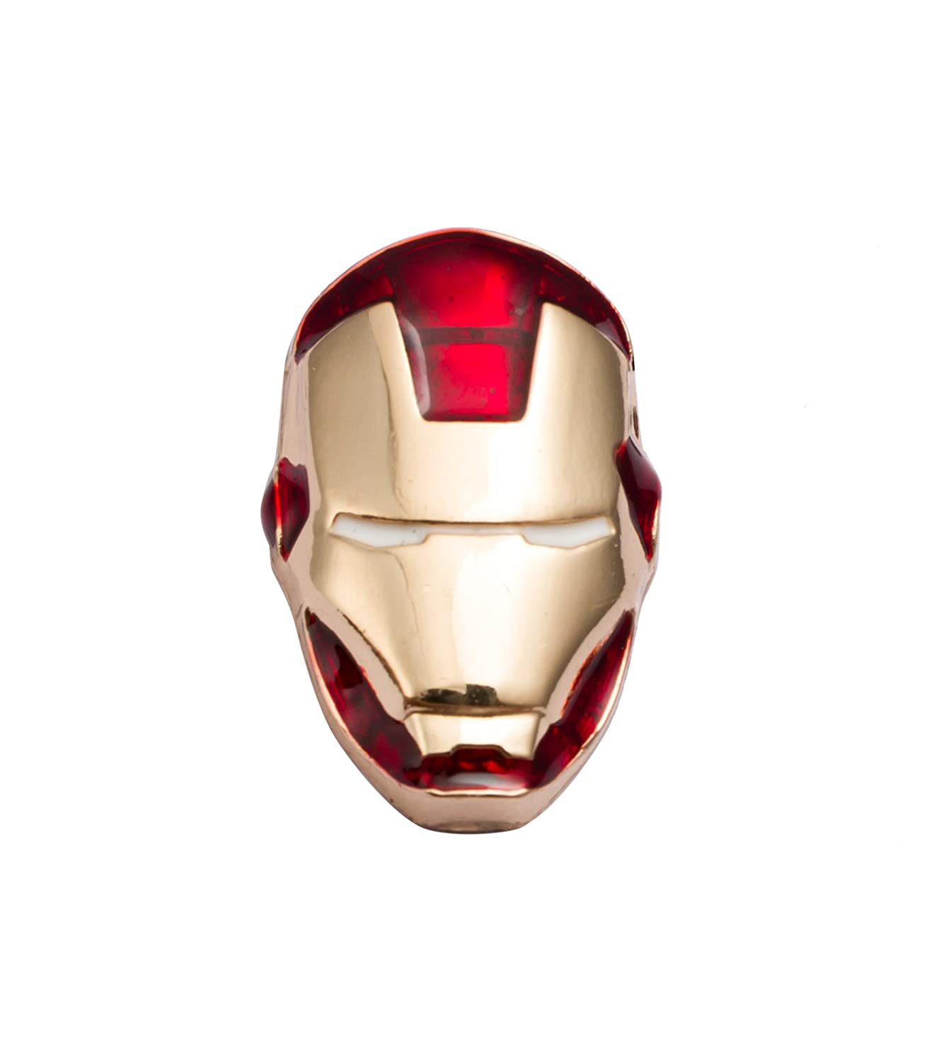 Buy Knighthood Men S Iron Man Face Alloy Lapel Pin Shirt Stud Golden And Red At Amazon In