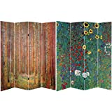 Product review for Oriental Furniture 6 ft. Tall Double Sided Works of Klimt Room Divider - Tannenwald/Farm Garden