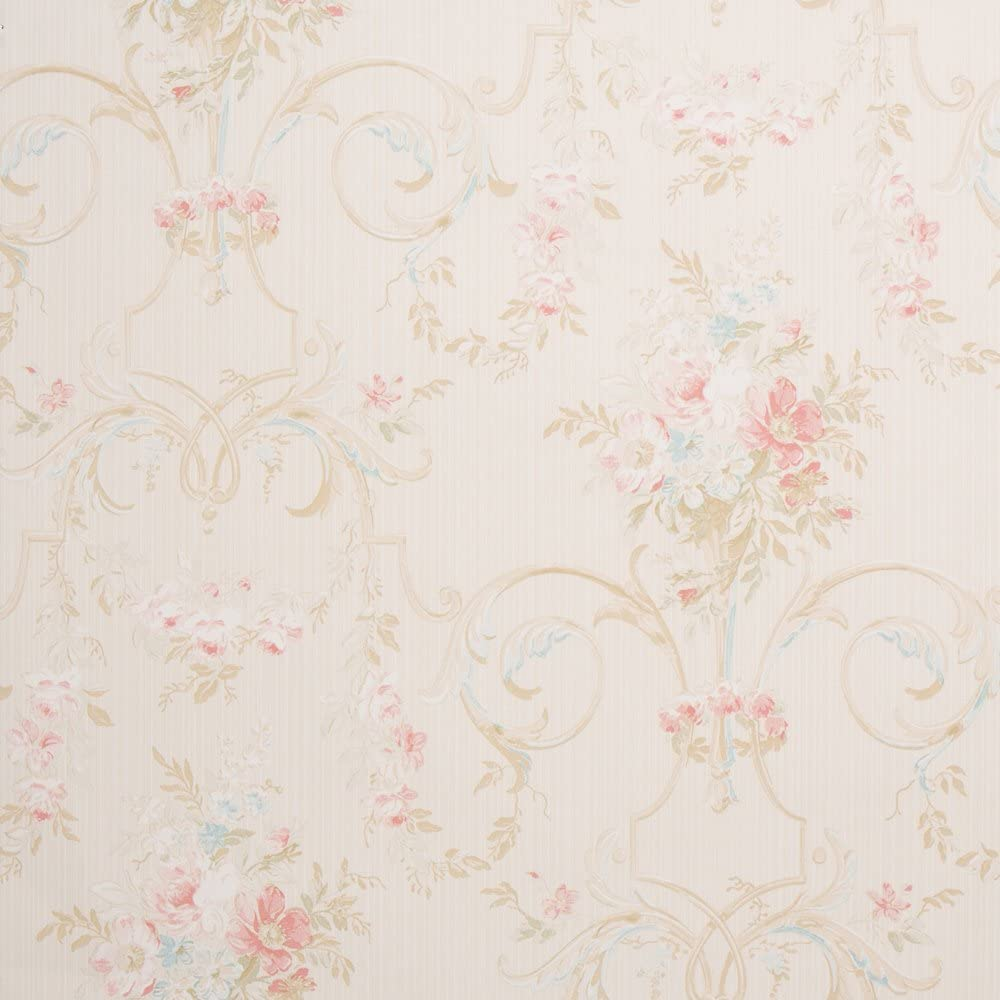 Cottage Floral Tan Shabby Chic Wallpaper For Walls Sample Swatch Romosa Wallcoverings Ll7542 Amazon Com