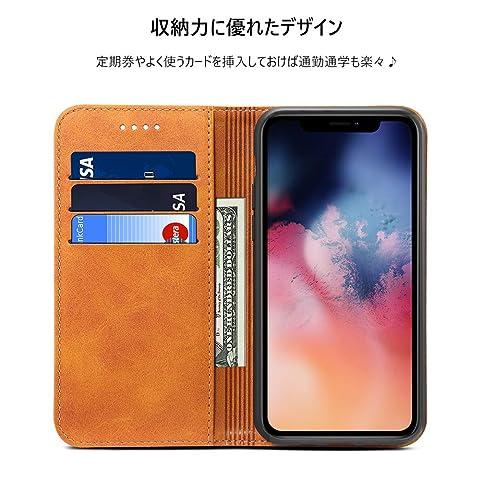 iPhone 11 ケース 手帳型 iPhone 11 ケース 手帳- Rssviss iPhone 11 ケース カード収納 スタンド機能 アイフォン 11 ケース 手帳型 高級PUレザーケース マグネット アイフォン 11 財布型 スマホケース(iPhone 11 6.1 inch対応) W1 レトロブラウン