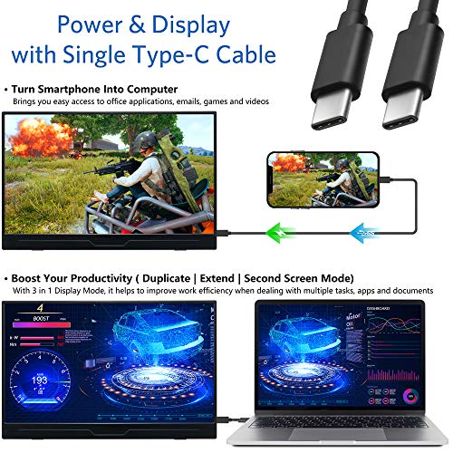 Portable-Monitor-173-Inch-1080P-FHD-IPS-HDR-Type-C-FreeSync-Gaming-Monitor-with-Type-C-HDMI-mini-DP-Dual-Speaker-for-Xbox-PS4-Switch-Laptop-PC-Phone-Mac-Surface-Nintendo-with-Smart-Case-VESA-mount