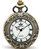 Product review of SEWOR Quartz Pocket Watch Shell Dial Magnifier Case With Two Type Chain (Leather+Metal)