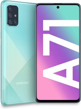 Samsung Galaxy A71 smartphone front side