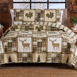 Cabin Lodge 3pc Quilt Set