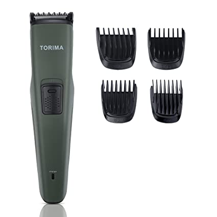 TORIMA PR-143 USB charging corded & cordless Beard Trimmer with Fast Charge : 4 Attachments, 60 Min Run Time For Men