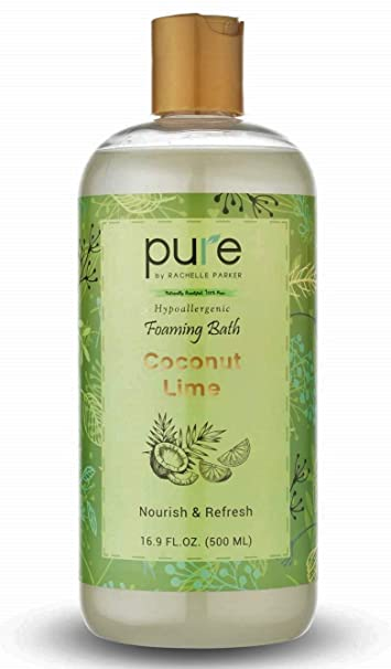 Buy Pure Aromatherapy Bubble Bath Organic Essential Oils Bath Foam Nourishes Soothes Sulfate Free Bubble Bath For Women Kids Best Bubble Bath For Sensitive Skin Coconut Lime Bubble Bath
