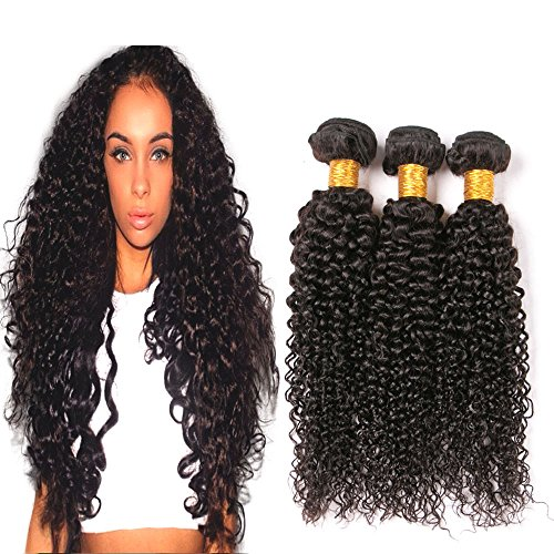 Brazilian Kinky Curly Hair 3 Bundles Short Thick Curly Weave Real Human Hair Bundles Amazon Warehouse Clearance Raw Remy Hair Bundles On Sale Top Quality Affordable Price Dark Brown 12 14 16 Inch