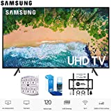 Samsung 75NU7100 75' NU7100 Smart 4K UHD TV 2018 with Wall Mount + Cleaning Kit (UN75NU7100)
