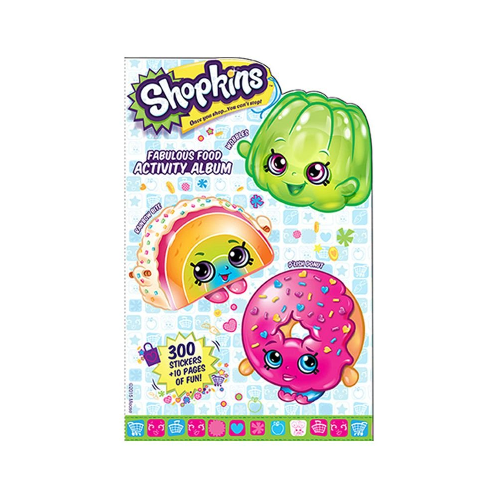 Shopkins Stickers - Mrs. Grossman's Fabulous Food Activity Album - 270 Stickers Included
