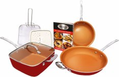 Gotham Steel 1738 Tastic Bundle 7 Piece Cookware Set Titanium Ceramic Pan