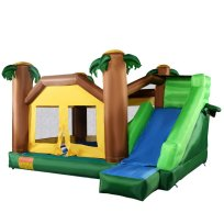 Inflatable Jungle Bounce House Jump and Slide Bouncer Castle
