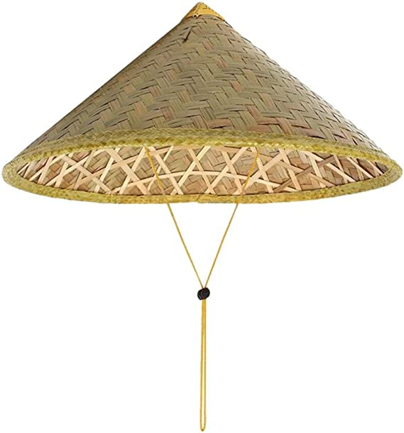 Queenbox Asian Bamboo Coolie Hat Japanese Weave Straw Hat Vietnamese Farmer Hat Amazon Ca Clothing Accessories
