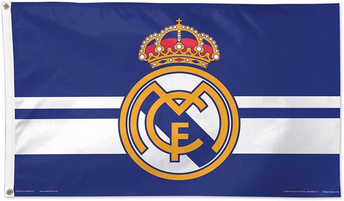 Amazon Com Real Madrid Logo 3 X 5 Soccer Flag Garden Outdoor