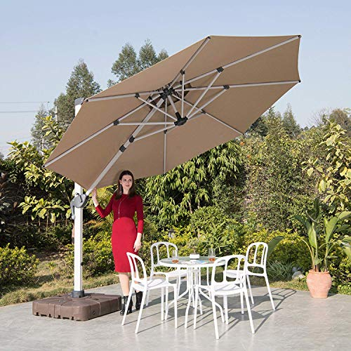 Lkinbo 11 Ft Offset Patio Umbrella With, Large Tilting Patio Umbrella