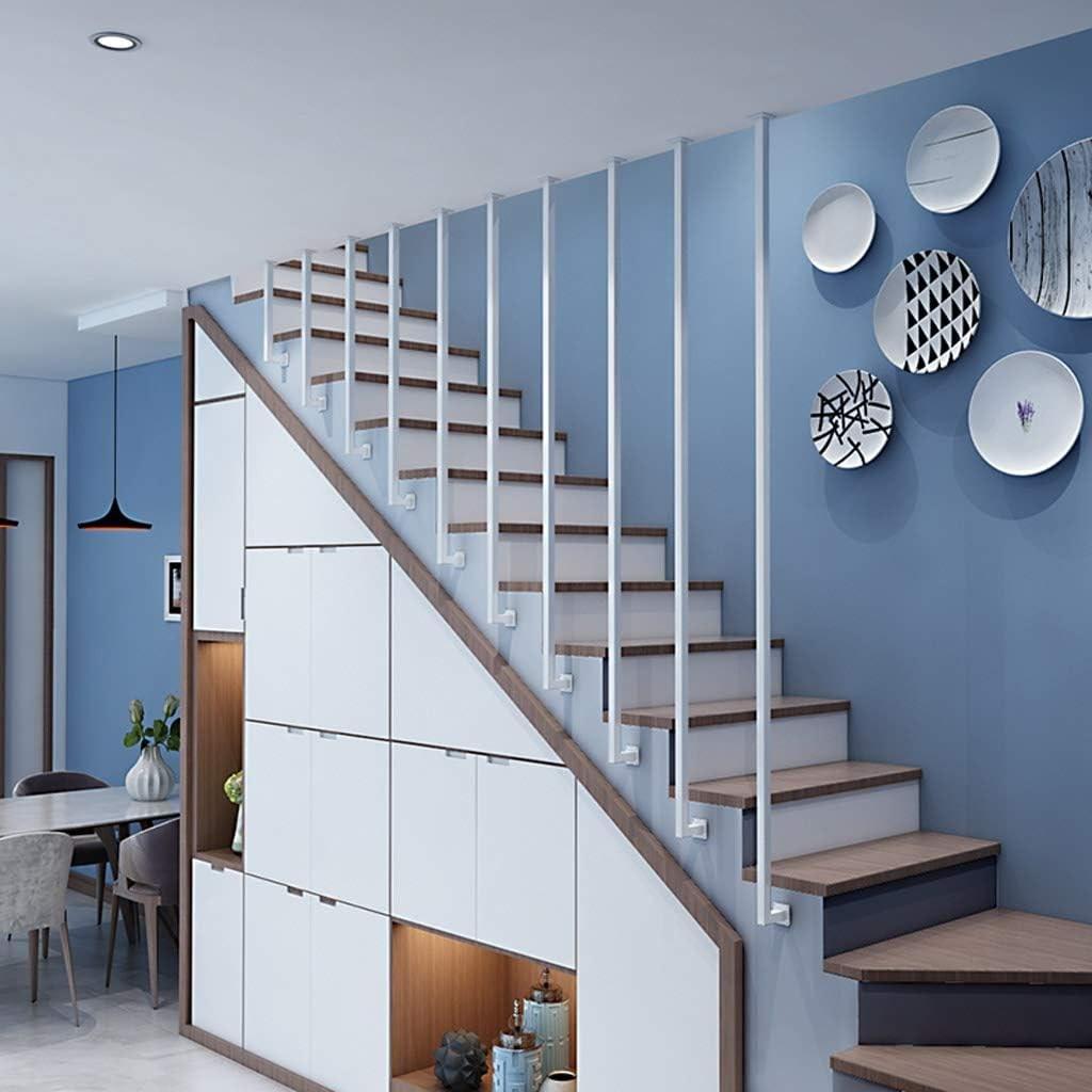 Amazon Com Yude L Type Wrought Iron Stair Handrail White | Wrought Iron Stair Railing Near Me | Wood | Railing Ideas | Spindles | Ornamental Iron | Iron Balusters