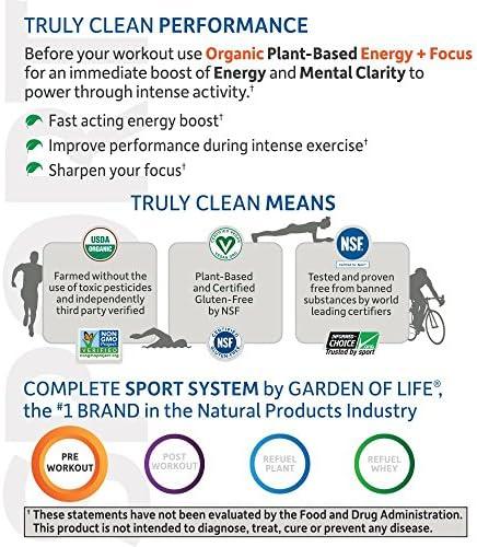 Garden of Life Sport Organic Pre Workout Energy Plus Focus Vegan Energy Powder, BlackBerry, 12 Count 4