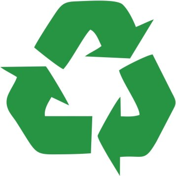 Amazon.com: Recycling Symbol green vinyl cut-out sticker 4.5 ...