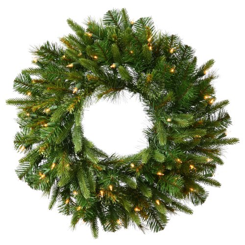 Vickerman 48' Cashmere Wreath with 100 Clear lights