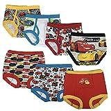 Disney Cars Boys Potty Training Pants Underwear Toddler 7-Pack, Cars Multi, 3T