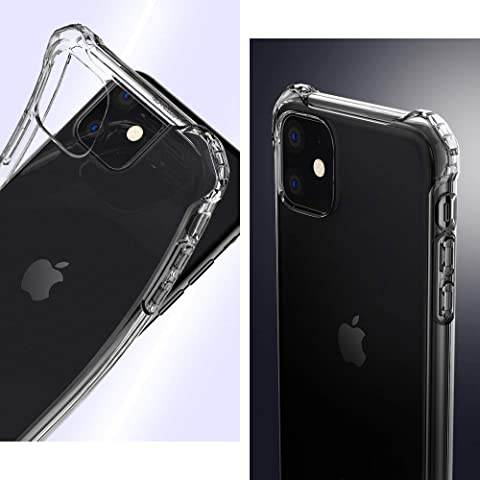 【Spigen】 iPhone 11 ケース 6.1インチ 対応 TPU 全面クリア 耐衝撃 米軍MIL規格取得 傷防止 レンズ保護 軽量 Qi充電 ワイヤレス充電 ラギッド・ クリスタル ACS00062 (クリスタル・クリア)