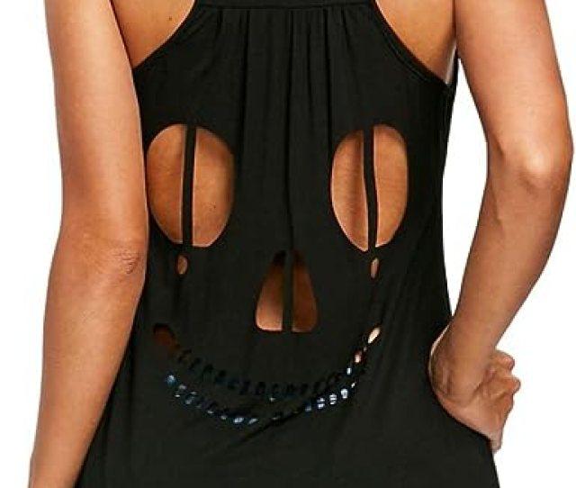 Aurorax Womens Sexy Tank Tops Casual Cotton Blouse Sleeveless V