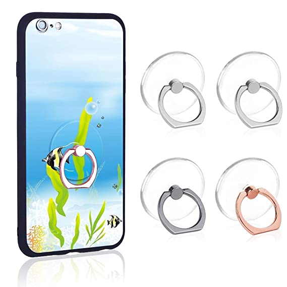 Phone Ring Transparent Cell Phone Ring Holder 360 Degree Rotation 180 Degree Flip Phone Ring Grip Finger Ring Stand Kickstand Compatible Various