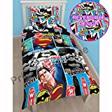 Batman v Superman Clash Single/US Twin Rotary Duvet Cover Set