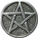 """vrinda Aluminum Altar Plate 3.5"""" Pentacle"""