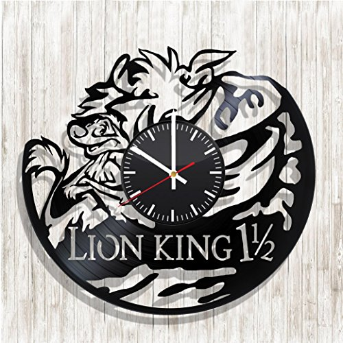 Design wall clock The Lion King made from real vinyl record, The Lion King decal, The Lion King poster, best gift for The Lion King fans, design art wall decor