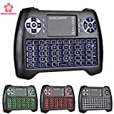 Mini Wireless Keyboard, Marcherry 2.4GHz 3 Colors Backlit Gaming Keyboard with Touchpad Mouse USB Rechargable Handheld Remote Control for Smart TV Xbox Android TV Box Projector PC Desktop Laptop IPSTB