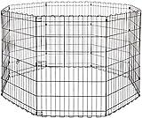 AmazonBasics Foldable Metal Pet Dog Exercise Fence Pen - 60 x 60 x 36 Inches