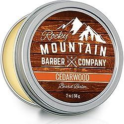 Beard Balm - Rocky Mountain Barber - 100% Natural - Premium Wax Blend with Cedarwood Scent, Nutrient Rich Bees Wax, Jojoba, Tea Tree, Coconut Oil  Image