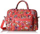 Vera Bradley Women's Iconic Weekender Travel Bag-Signature, Coral Floral