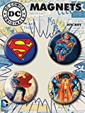 "Ata-Boy DC Comics Superman Set of 4 1.25"" Button Magnets for Refrigerators and Lockers"