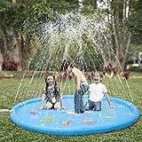 KKONES Sprinkler pad & Splash Play Mat 68' Toddler Water Toys Fun for 1 2 3 4 5 Year Old Boy Girl, Kids Outdoor Party Sprinkler Toy