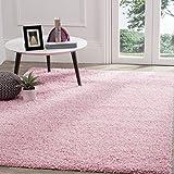 Safavieh Athens Shag Collection SGA119P Pink Area Rug (6' x 9')