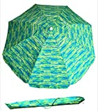 SueSport Sand Anchor 7 feet Beach Umbrella with Tilt and Telescoping...