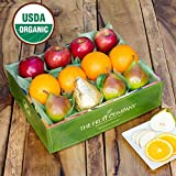 Organic Mixed Fruit Medley Gift Box-The Fruit Company Best Organic Fruit for Organic Food gifts. Shipped in beautiful watercolor box designed by a local artist. Best quality fruit for a healthy gift