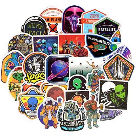 QTL-Waterproof-Space-Vinyl-Stickers-Bomb-Laptop-Folders-Water-Bottle-Skateboard-Decals-Toys-for-Kids-30PcsPack