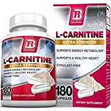BRI L-Carnitine - 180 Tables 1000mg per Serving Premium Quality Carnitine Amino Acid Natural Fat Burner Supports Athletic Performance, Stamina and Heart Health; Stimulant Free Veggie Capsules