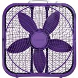Lasko Cool Colors 20' Box Fan Durable Metal Frame Purple