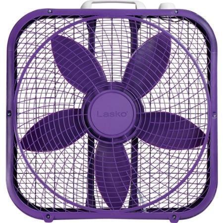 Lasko Cool Colors 20' Box Fan Durable Metal Frame Purple