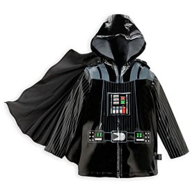 Disney Store Deluxe Darth Vader Rain Jacket Star Wars Size S Small 5 - 6 5T