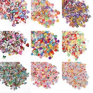 5000 Pcs 3D Polymer Fimo Slices DIY Nail Art Slime Supplies Charms Slime Making Kit Decoration Arts Crafts (9 Pack(5000pcs)) 61GQWlHvKGL