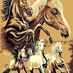 Western Rustic Horse Area Rug