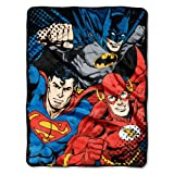 "Justice League, League Trio Micro Raschel Throw, 46"" x 60"""