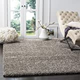 Safavieh Milan Shag Collection SG180-8080 Grey Area Rug (8'6' x 12')