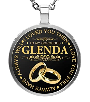 Amazoncom Familygift Name Necklace To My Gorgeous Glenda